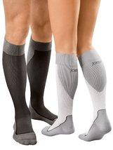 JOBST Sport Knee High 20-30 mmHg Compression Socks, White/Grey, Small - $65.92