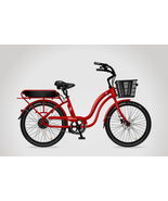 Red & Black Electric Bicycle E-Bike - Built-in Battery & Charger - Long ... - $2,688.84+