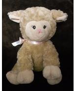 Inter American Lamb Sheep Plush Stuffed Animal Tan Brown Pink Bow Swirly... - $27.60