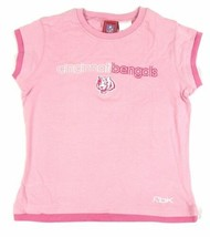 NFL Girl's Cincinnati Bengals Pink Short Sleeve Tee Football Reebok T-Shirt