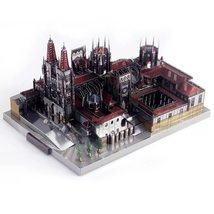 Spain Burgos Cathedral Architecture 3D DIY Metal Puzzle Toy, Assemble Mo... - $15.90