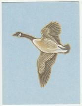 Vintage Gift Enclosure Card Goose Blue Background Unused Current - $6.92