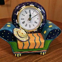 Whimsical  Milson & Louis Clock Chair QUARTZ CLOCK Hand Painted  Mint Condition  image 1
