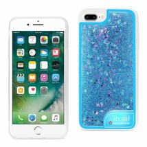 IPHONE 7 PLUS CASE WITH FLOWING GLITTER AND LED EFFECT IN BLUE - $10.33