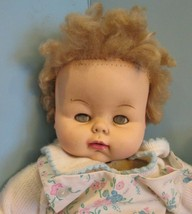 """Vintage 20"""" uneeda 1968 2569to cloth body blonde hair Baby Doll open close eyes  - $39.60"""