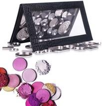 DIY Empty Magnetic Makeup Palette Case Eyeshadow Lip Gross Black Small P... - $28.31