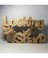 "Looking Sharp Hedgehog Desk Table Home Decor Wood 7"" x 11"" New - $24.74"