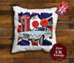 Jaguar XJ6 Cushion Cover, Jaguar XJ6, Union Jack,Target, Poppy, - $9.09+