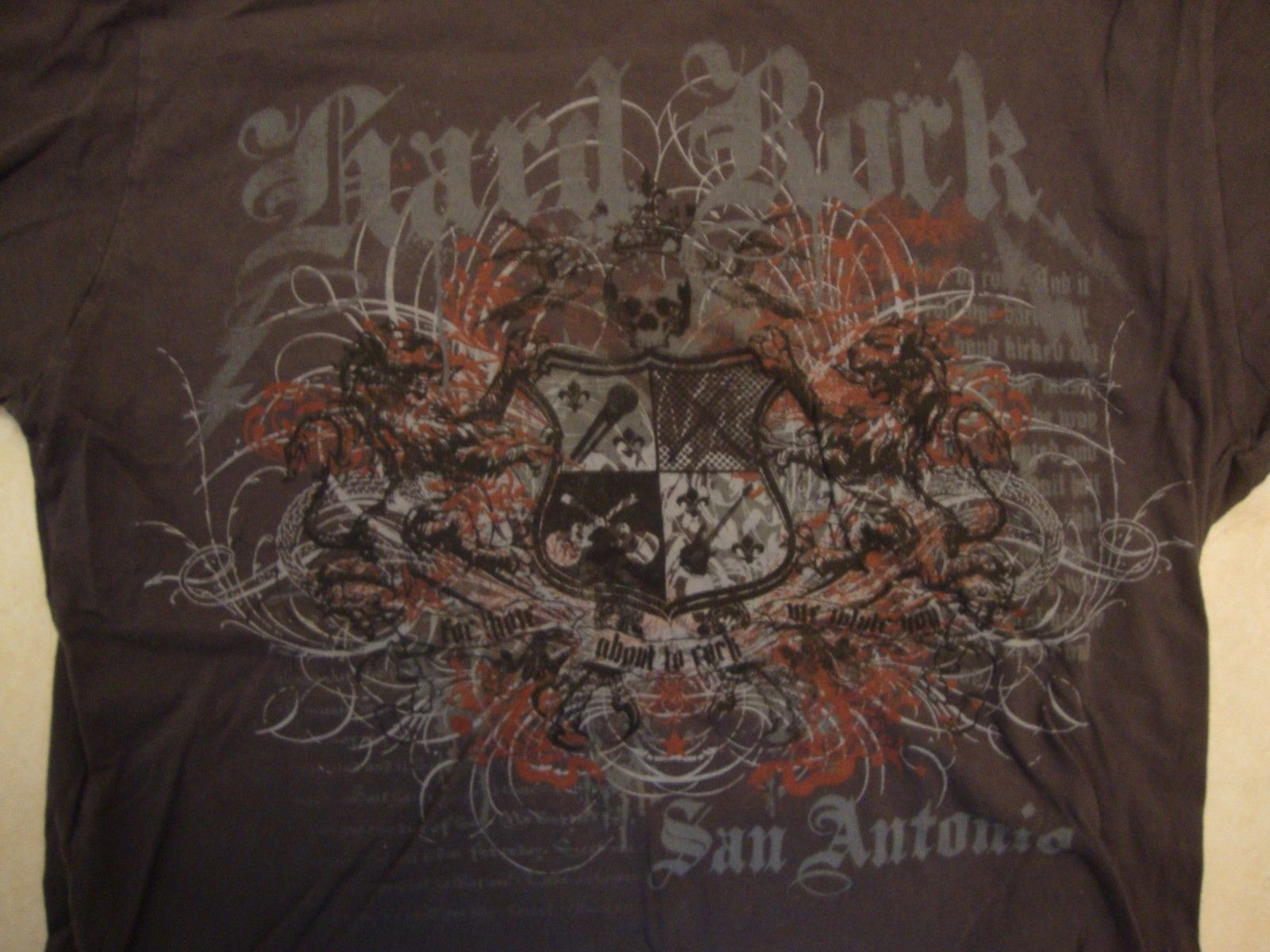 Primary image for Hard Rock Cafe San Antonio gray t shirt size M