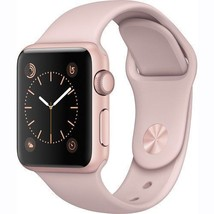 Apple Watch Series 1Smartwatch 38mm Rose Gold Aluminum Case Pink Sand Sp... - $251.28