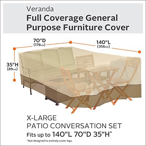 Classic Accessories 55-884-051501-00 Patio Furniture Cover, X-Large