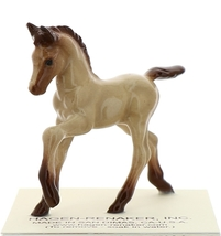 Hagen-Renaker Miniature Ceramic Horse Figurine Buckskin Colt with Leg Up