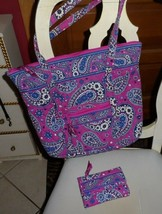 Vera Bradley Villager large zipper tote and Euro Wallet in Boysenberry - $52.00