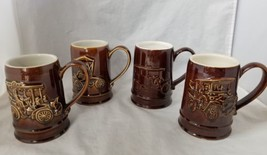 Vintage Ohio AAA Collection Gallery Car Mugs, Set of 4, Hall Pottery  - $24.18