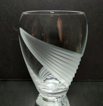 1 (One) LENOX WINDSWEPT Cut Frosted Lead Crystal Clear Glass Flower Vase... - $27.54