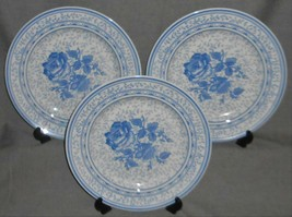 1995 Set (3) Johnson Brothers CHELSEA ROSE PATTERN Dinner Plates MADE IN... - $39.59