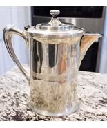 Antique Porcelain Lined Insulated Silverplated Pitcher Lidded Stamped 1832 - $80.75