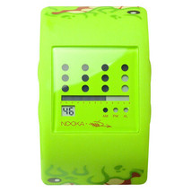 Nooka Lime Green Zub Zot Mad L Toy's Sqwert Slimeball 38mm Digital LCD Watch NIB image 2