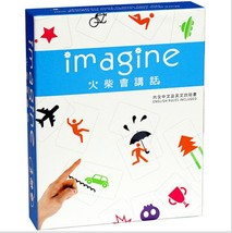 Imagine Board Game Matches will speak 17.5*22*4.4cm Imagination Game Eng... - $31.66