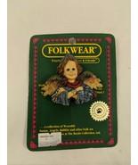 Boyds Collection Folkwear Fairy Angel Folk Art Pin 1995 - $3.95