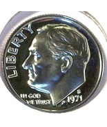 1971-S CAMEO Proof Roosevelt Dime PF65 #510 - $1.78