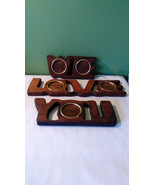 Vintage We love you picture frames,wooden, 1980s, wall hangings, photos,... - $14.00