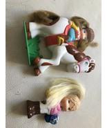 Vintage Flatsy Like Little Snaps Silver Lit Dolls - $17.99
