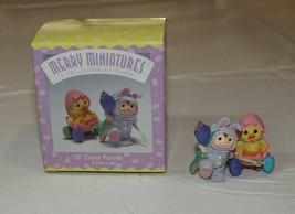 HALLMARK Merry Miniatures Charm Easter Parade 2 piece set Holidays 1997 - $10.68