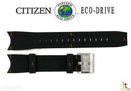 Citizen Eco-Drive Bj2110-01e Original 22mm Schwarz Gummi Uhrenarmband Bj... - $89.11