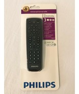 Philips Universal Remote Control Black 3 Devices SRP1103/27 Simple Setup... - $7.99