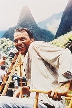 Frank Sinatra The Devil at 4 O'clock Color 24x18 Poster Rare on Set Smiling s - $23.99