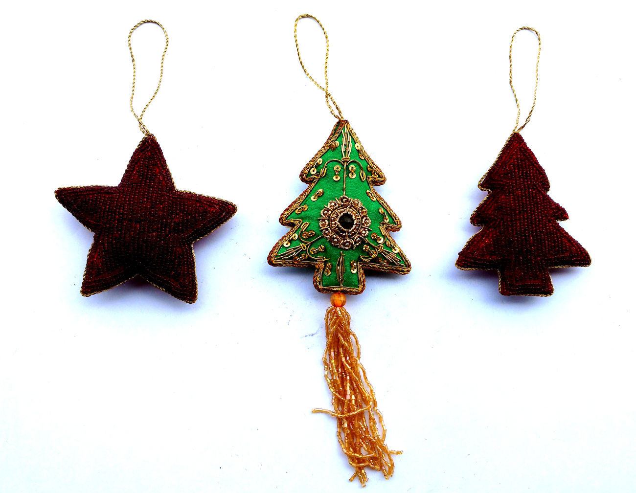 Febric Stars Ornament Tree Hanging Party Home Decor Xmas New Classic 3 Christmas