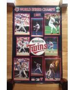 "1987 Minnesota Twins World Series Champs Poster 22"" x 34"" - $20.00"