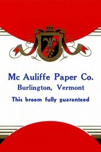 Mc Auliffe Paper Co. Broom Label - Art Print - $19.99+