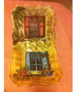 (2) TABLETOPS UNLIMITED--RUE DE PARIS--SALAD PLATES--SQUARE--BLUE / RED-... - $21.49
