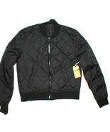 New NWT $298 Womens Puffer Bomber Jacket Designer True Religion Jeans Bl... - $159.60