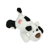 MagNICI Dog Black White Stuffed Toy Animal Magnet in Paws 5 inches 12 cm - $11.00