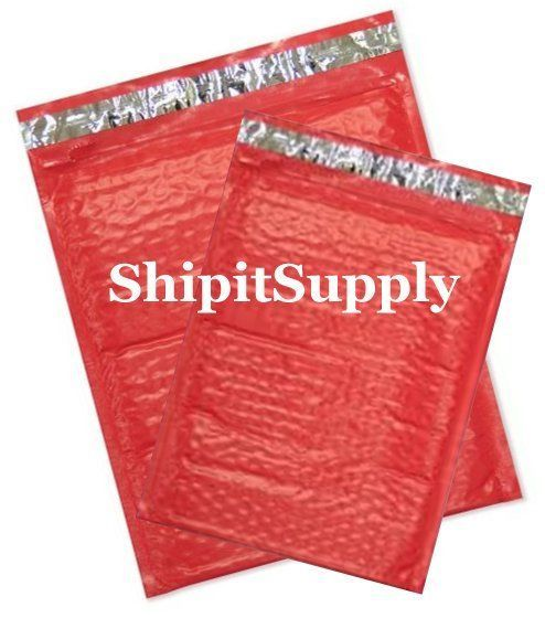 2-200 #0 #000 6x10 4X8 Poly ( Red ) Combo Color Bubble Padded Mailers