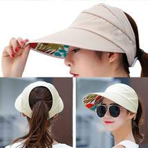 Women Ladies Hat Sun Wide Brim Cap Foldable Beach Summer Visor UV Protec... - $11.49