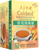 Prince Gold Coldaid - Concentrated Herbal Extract Tea, 10 Bags - $8.64+