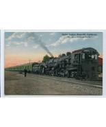 Southern Pacific SP Railroad Compound Mallet Train Roseville CA 1910c po... - $9.85