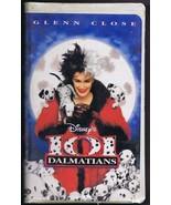 101 Dalmatians ORIGINAL Vintage VHS Clamshell Edition Disney Glenn Close - $14.84