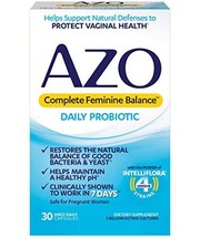 AZO Complete Feminine Balance Daily Probiotics for Women | 30 Count | Clinically