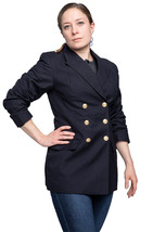 Ladies German navy double breasted blazer military jacket dress army tunic  - $25.00