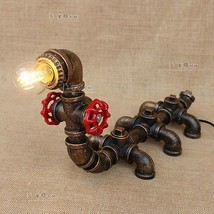 Machine Age Pipe Steampunk Centipede Single Light Table Desk Lamp Lighti... - $91.74