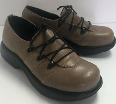 Dansko Brown Leather Lace Up Comfort Career Shoes Women's Size 37 - $39.59