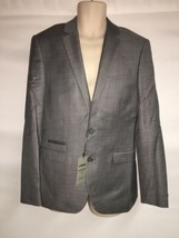 Express Blazer Suit Jacket Mens 42 Long Gray Photographer Fitted NWT $298 - $96.75
