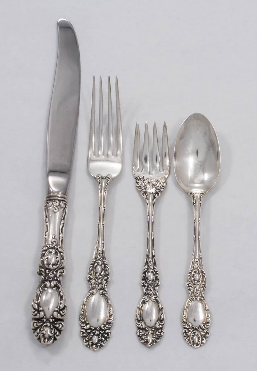 Primary image for Lucerne by Wallace Sterling Silver Regular 4 piece Place Setting - NoMon