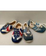 Vtg Tennis Shoe Lot 3 Baby Red White Blue Stripe Style Kids Tag Reborn D... - $34.19
