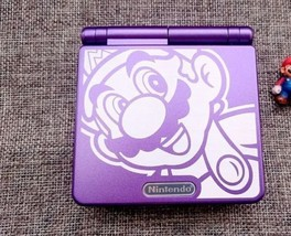 Nintendo Game Boy Advance GBA SP Custom Mario Purple System AGS 001 MINT... - $74.20